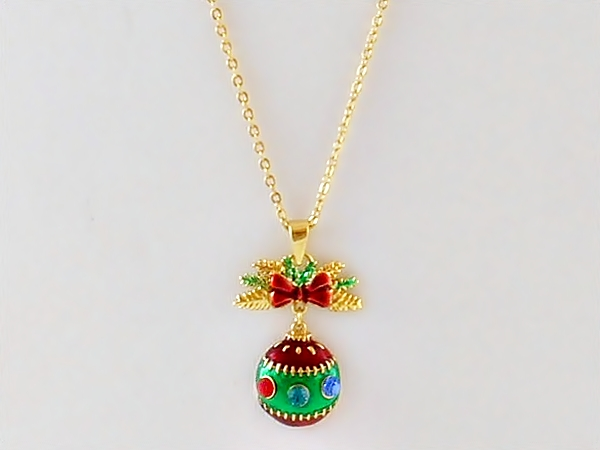 Christmas Ornament Holiday Necklace