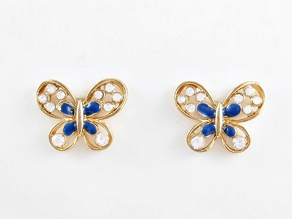 '.Blue Butterfly Earrings.'