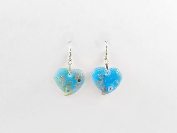 '.Blue Heart Earrings.'