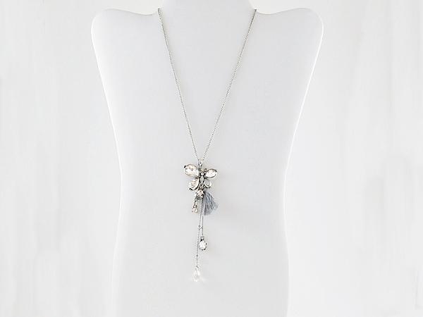 '.Butterfly Tassel Necklace.'