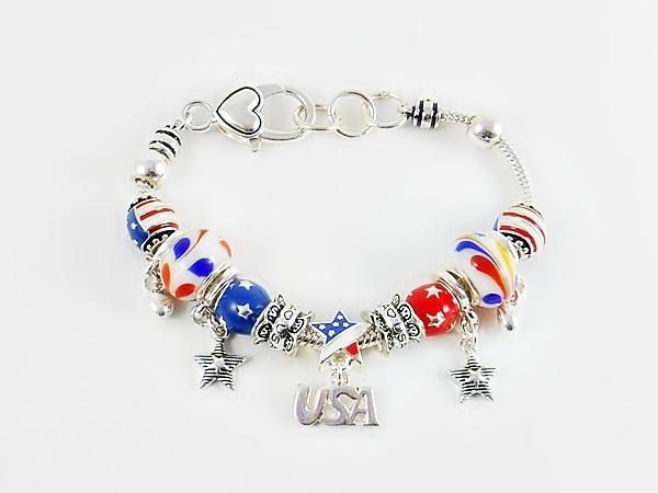'.Patriotic Charm Bracelet.'
