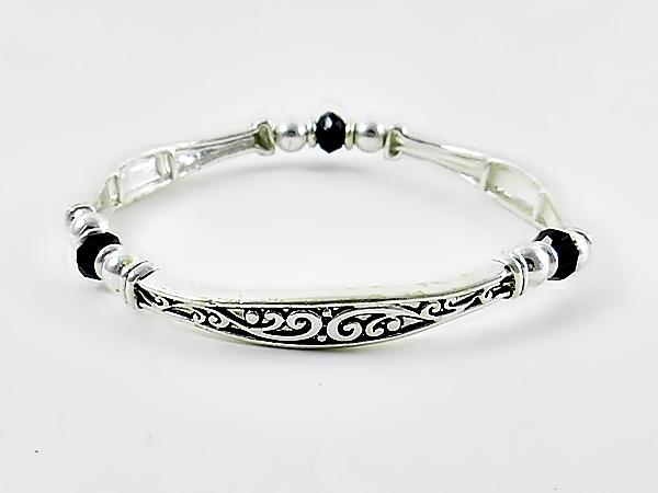 '.Silver and Black Bracelet.'
