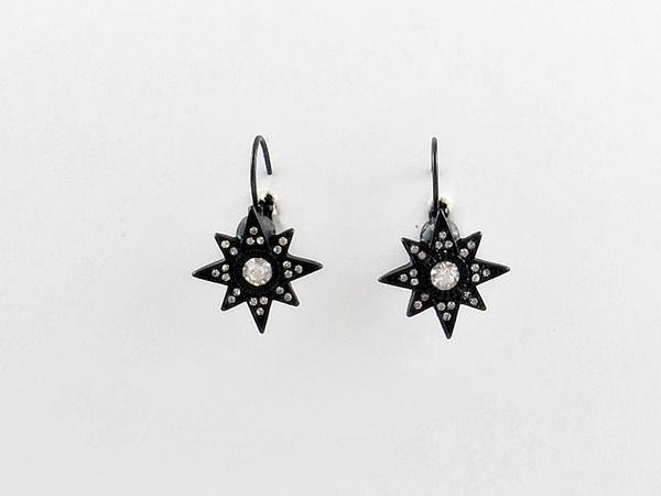 '.Black Star Earrings.'