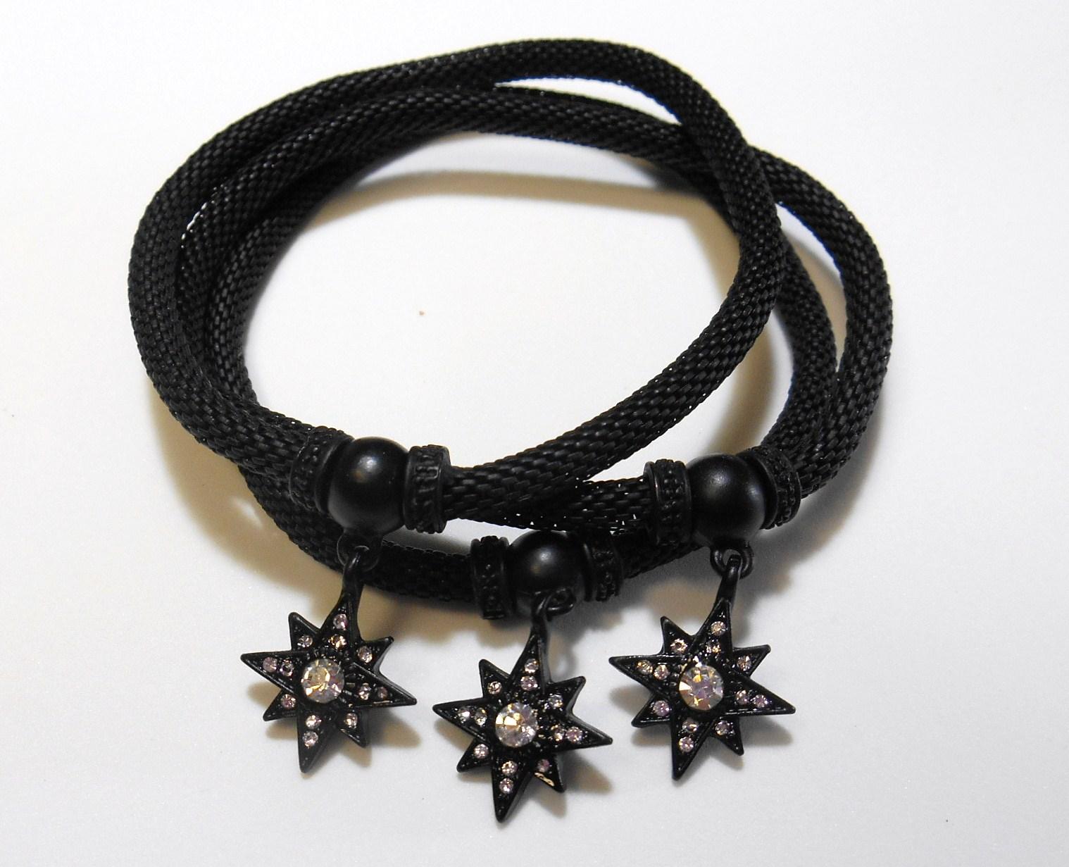Image 0 of Black Star Charm Bracelet Set