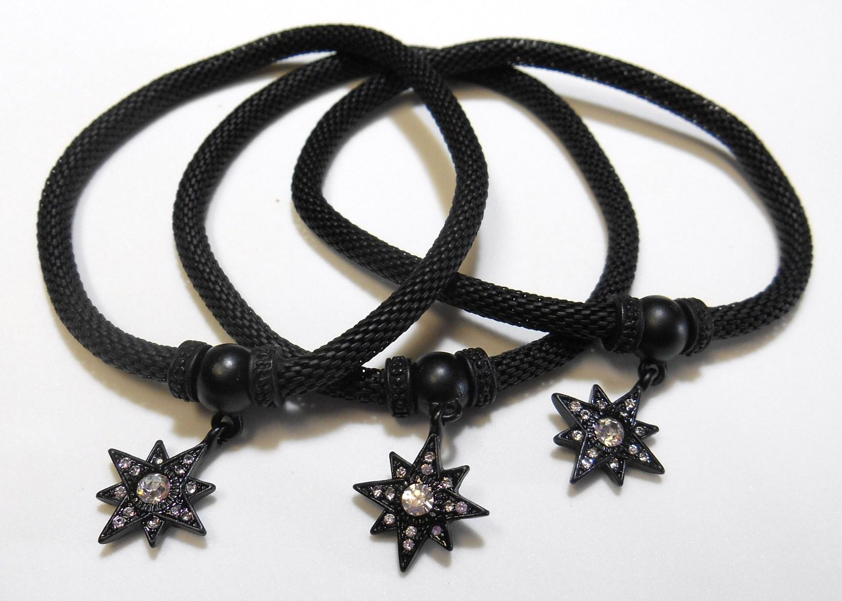 Image 1 of Black Star Charm Bracelet Set