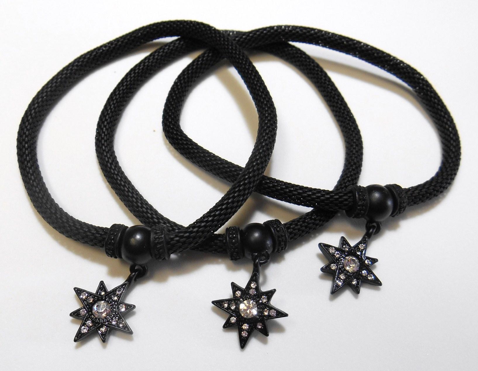 Image 2 of Black Star Charm Bracelet Set