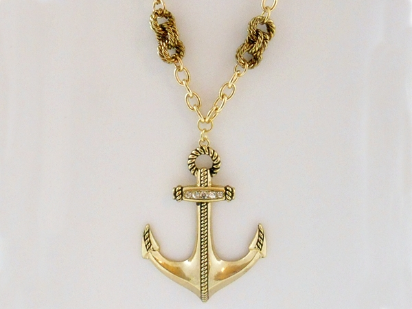 '.Anchor Necklace and Earrings.'