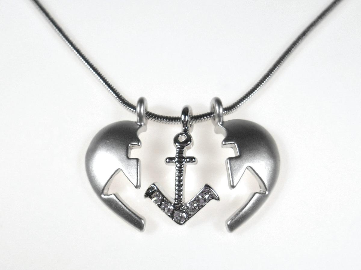'.Anchor Heart Necklace.'