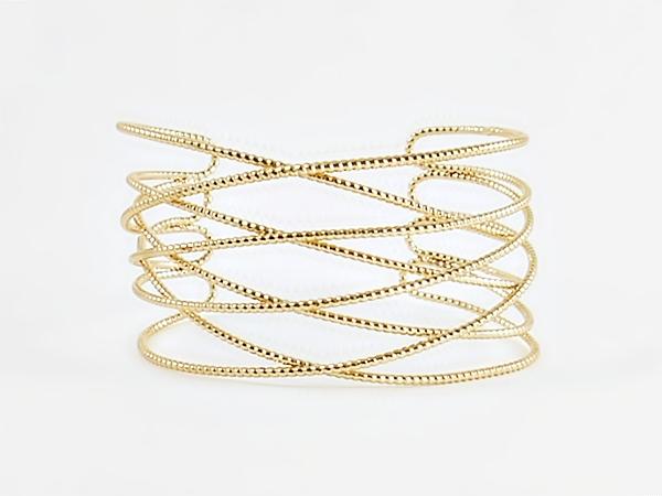 '.Gold Metal Wide Cuff Bracelet.'