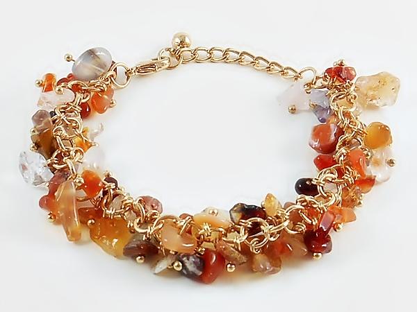'.Carnelian Orange Bracelet.'