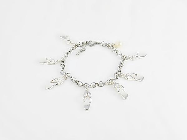'.Flip Flop Charm Bracelet.'