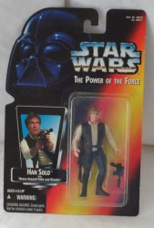Star Wars Power of the Force Han Solo with Heavy Assault Rifle and Blaster