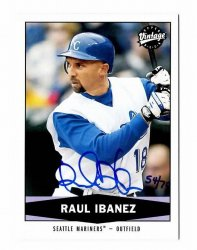 2008 SP Authentic 2004 Upper Deck Vintage Buyback Raul Ibanez #54/70 w/COA