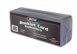 BCW Booklet Card Toploader (1) Single Booklet Card Toploader Holder- With Sleeve