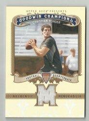 2012 Upper Deck Goodwin Champions Memorabilia #MPO Christian Ponder F
