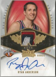 2008-09 Hot Prospects #124 Ryan Anderson JSY AU RC