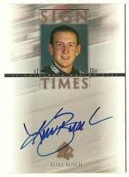 2000 SP Authentic Sign of the Times #KB Kurt Busch