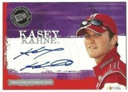 2005 Press Pass Autographs #29 Kasey Kahne NCS E/P