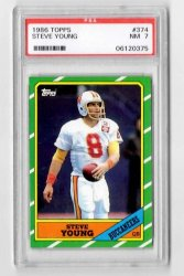 1986 Topps #374 Steve Young RC