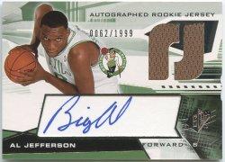 2004-05 SPx #134 Al Jefferson JSY AU RC