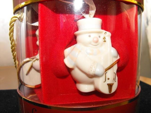 Image 2 of Lenox Ornaments Snowman Standabouts Set 5 2004 Mint in Original Box