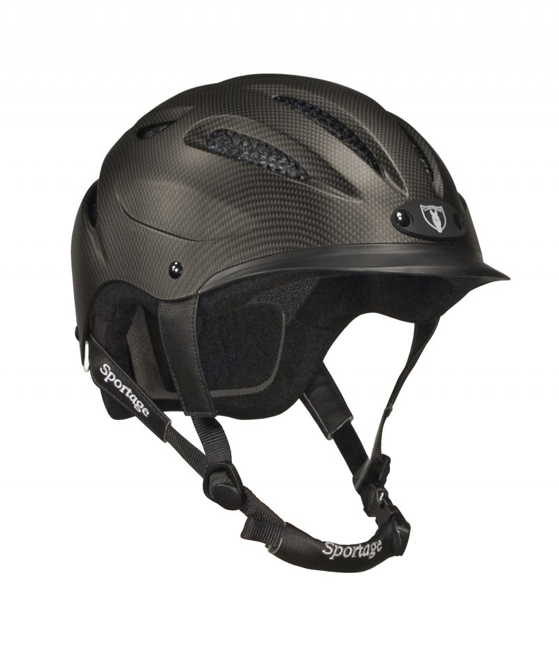 Tipperary Sportage Cocoa Brown Equestrian Helmet front view