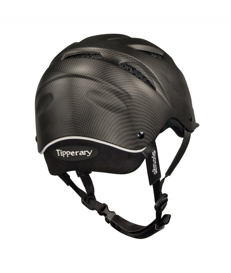 Tipperary Sportage Equestrian Helmet Cocoa Brown back view