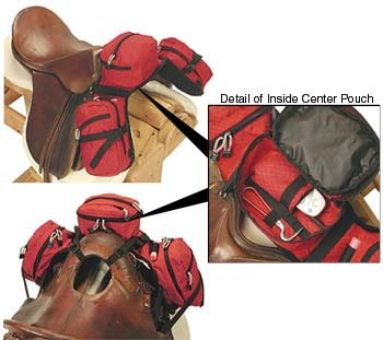 EasyCare Stowaway pommel pack saddle bagl multiview Photos courtesy of Easycare, Inc.