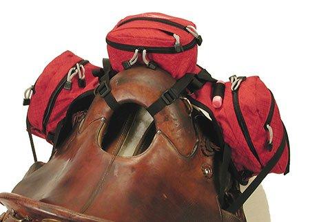 Stowaway pommel saddle pack bag
