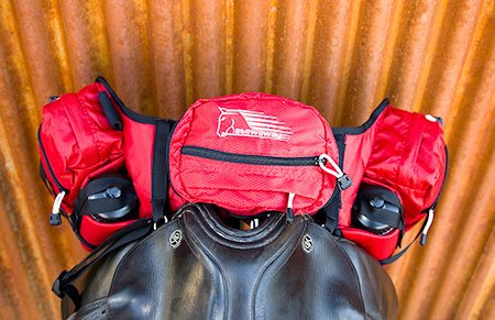 stowaway Deluxe Pommel saddle pack bag top view