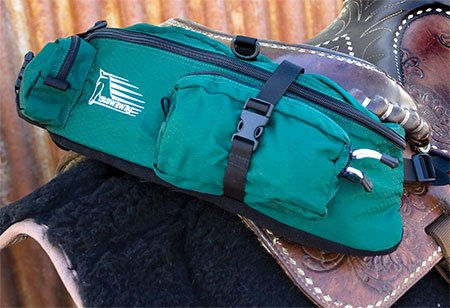Stowaway Slim Cantle Bag rear side view