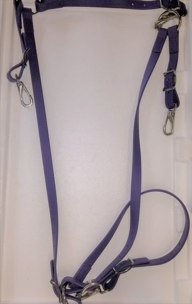 SG Classic Breastcollar Violet Beta Stainless Steel