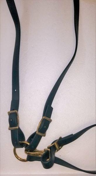 SG Classic Breastcollar Hunter Green Beta, Brass