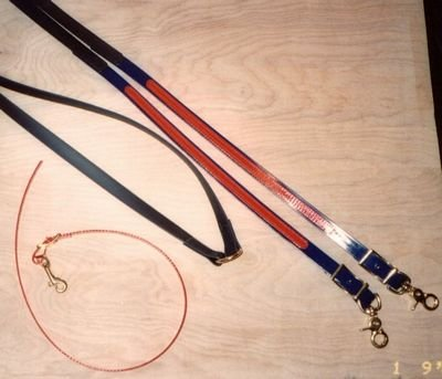 Trail Rein Navy & Red Black Handgrip