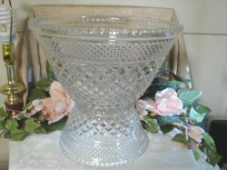 Thumbnail of Anchor hocking 40-50-60 Glassware Era Glass Very large Punch bowl and base..
