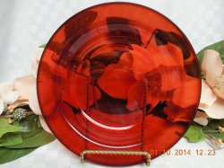 Thumbnail of Arcoroc France Glass Classique in Ruby with Rim salad plate