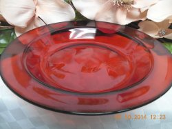 Thumbnail of Arcoroc France Glass Classique in Ruby with Rim Rim soup bowl