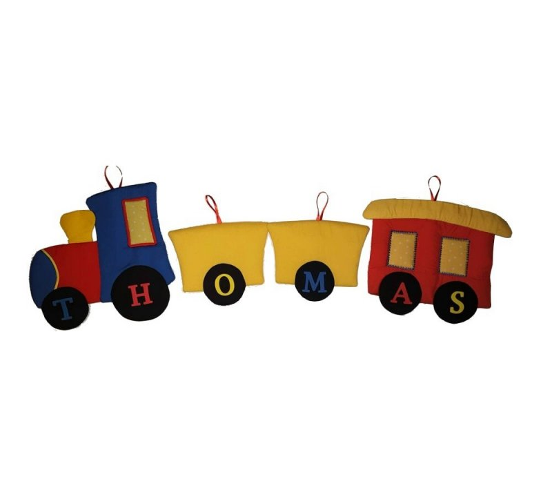 Image 0 of Choo Choo Train Personalized Kids Fabric Art Designs Decor Growth Charts