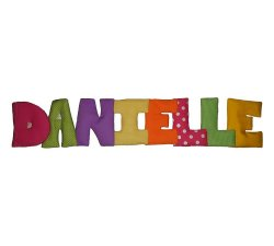 Puffy Names Personalized Kids Fabric Art Designs Decor Growth Charts