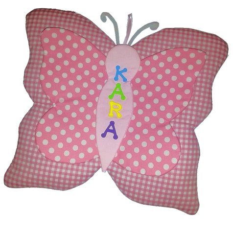 Image 0 of Butterfly Growth Chart Personalized Kids Fabric Art Designs Decor Growth Charts