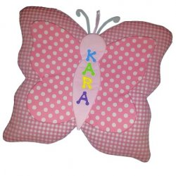 Butterfly Growth Chart Personalized Kids Fabric Art Designs Decor Growth Charts
