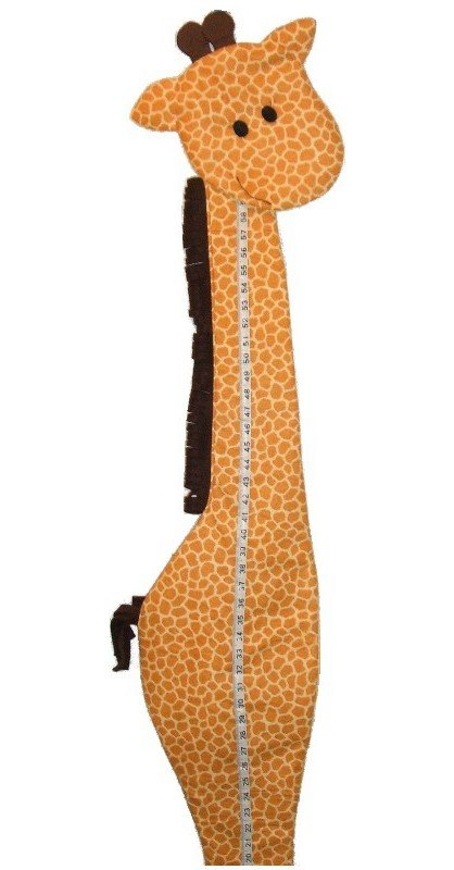 Image 0 of Giraffe Growth Chart Personalized Kids Fabric Art Designs Decor Growth Charts