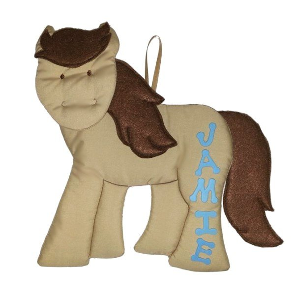 Image 1 of Horse Growth Chart Personalized Kids Fabric Art Designs Decor Growth Charts
