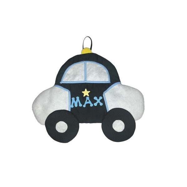 Image 0 of Police Car Growth Chart Personalized Kids Fabric Art Designs Decor Growth Charts