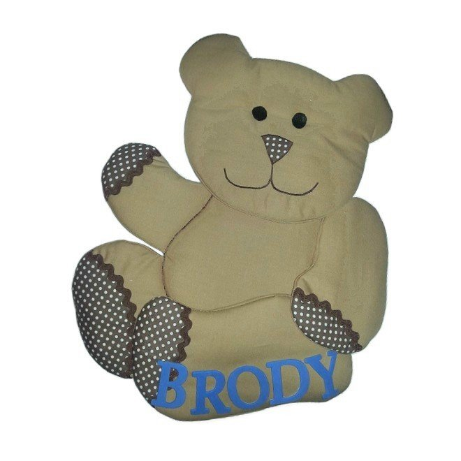 Image 0 of Ted E Bear Growth Chart Personalized Kids Fabric Art Designs Decor Growth Charts