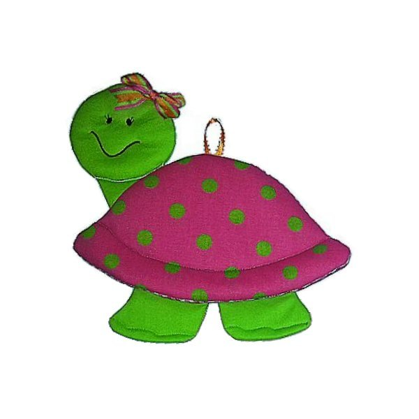 Image 0 of Girly Turtle Growth Chart Personalized Kids Fabric Art Designs Decor Growth Char