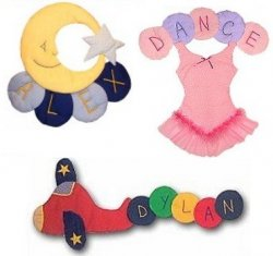 Fabric Circle Names Personalized Kids Fabric Art Designs Decor Growth Charts
