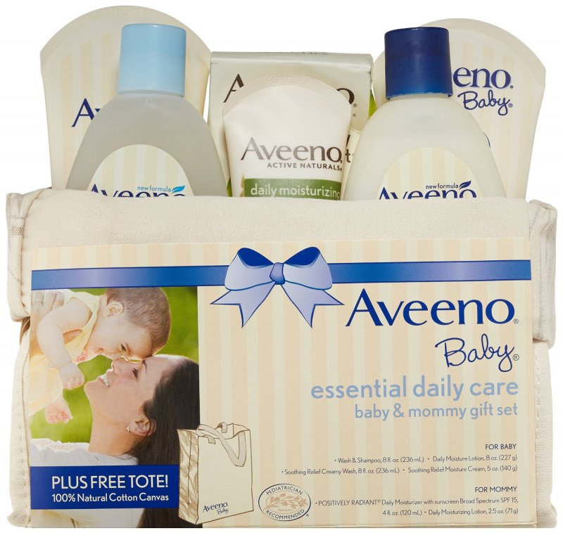 Aveeno Baby Daily Skin Care Essentials for Baby & Mommy Gift Set