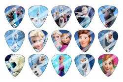 Disney Frozen Guitar Pick Images Sheet #1 (instant download or pre cut)