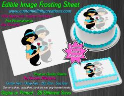 Jasmine Aladdin Edible Image Icing Frosting Sheet #1 Cake Cupcake Cookie Topper